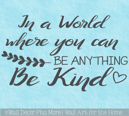 Inspirational Be Kind Wall Quote Bathroom Decal Sticker Decor Letters WD1743