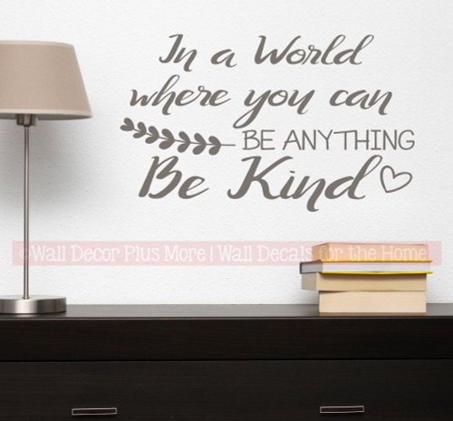 Inspirational Be Kind Wall Quote Bathroom Decal Sticker Decor Letters Castlegray