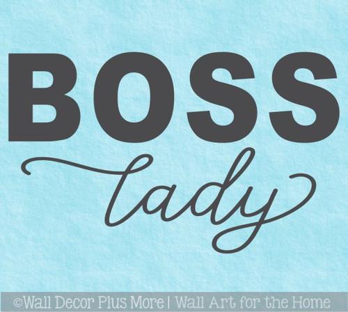 Boss Lady Office Wall Art Decor Sticker Vinyl Words Lettering Quote
