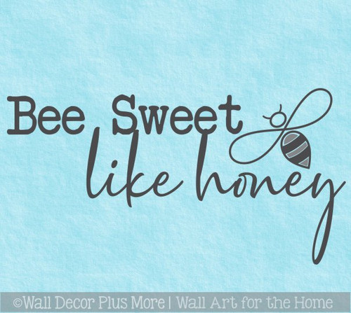 Bee Wall Decor Sweet Like Honey Inspirational Wall Decal Sticker Quote