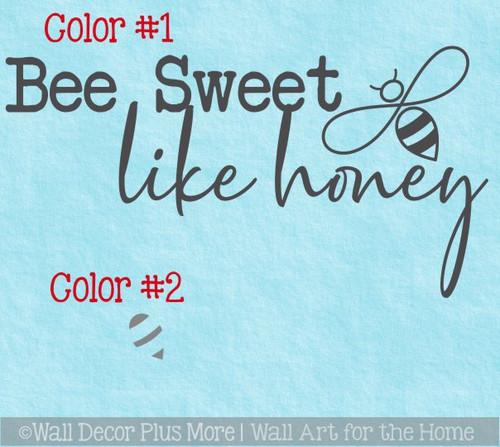 2-Color Art Kids Teen School Cool Room Inspiring Quote 23x12-Inch Sweet Like Honey Bee Wall Decor Vinyl Stickers Decals Lettering