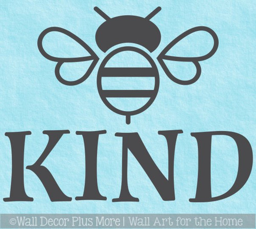 Bee Wall Decor Sticker Be Kind Decal Vinyl Letters for Kids School Art