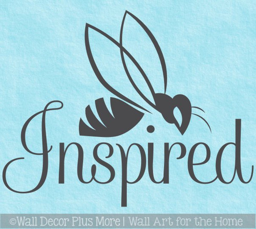 Bee Wall Decor Decal Be Inspired Vinyl Art Sticker Lettering for Walls