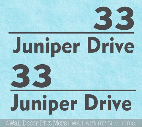 Mailbox Decals Vinyl Stickers Personalized Custom Address Lettering, Set/2