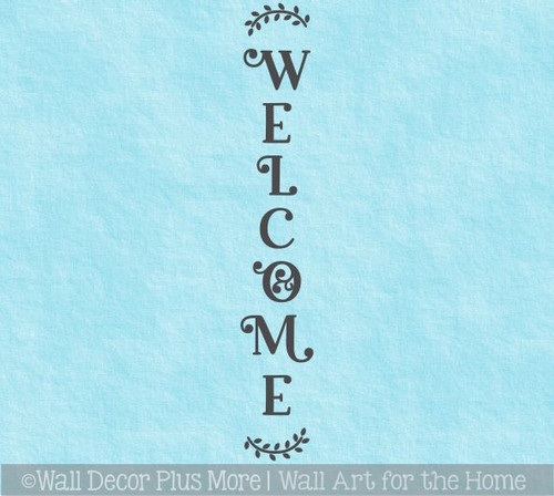 Decal Sticker for Tall Wood Sign Welcome with Florals Farmhouse Porch