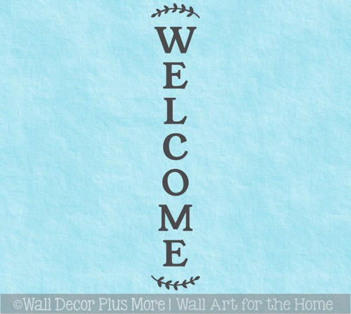 Decal Sticker for Tall Wood Sign Welcome Farmhouse Entryway Porch Decor
