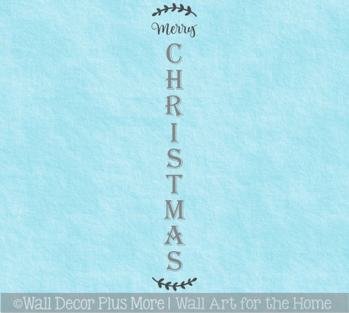 Decal Sticker for Tall Wood Sign Merry Christmas Entryway Porch Decor