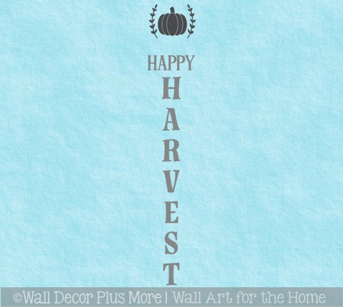Decal Sticker for Tall Vertical Wood Sign Fall Happy Harvest Pumpkin