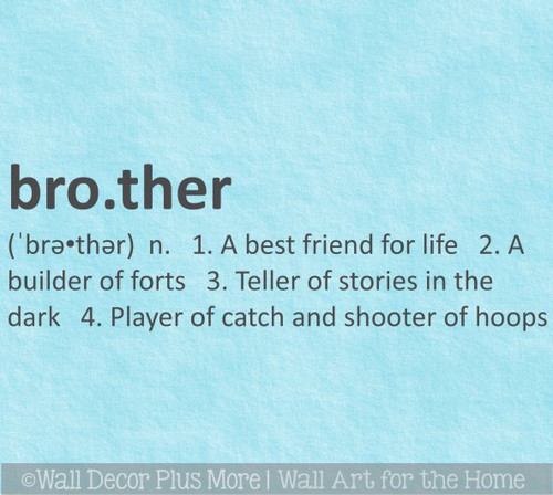 Sister or Brother Definition Wall Decal Sticker Kids Room Art Decor-Brother option