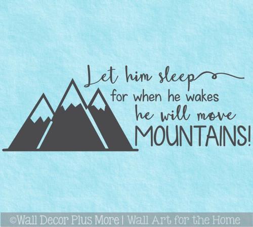 Boys Woodland Nursery Decor Wall Decals Let Him Sleep Move Mountains