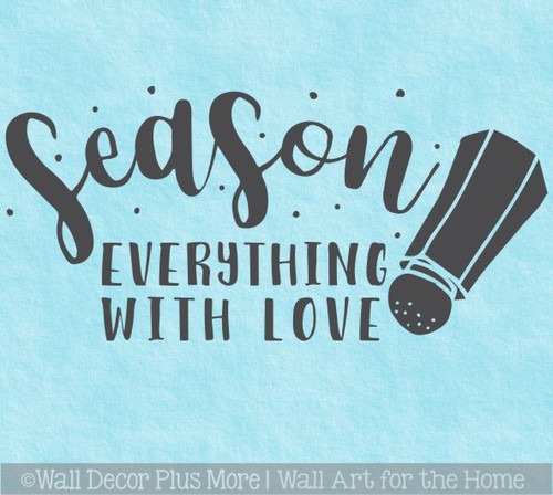 Kitchen Wall Words Decal Sticker Season With Love Salt Shaker Art Decor