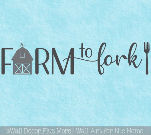 Kitchen Wall Art Decal Farm To Fork Farmhouse Decor Letters Sticker Barn