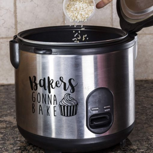 Bakers Gonna Bake Kitchenaid Mixer Appliance Decal Sticker for Kitchen Decor-Glossy Black on Instant Pot