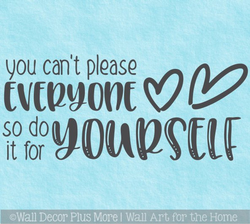 Wall Art Decal Sticker Do It For Yourself Motivational Quote for Decor