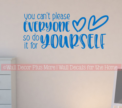 Wall Art Decal Sticker Do It For Yourself Motivational Quote for Decor-Traffic Blue
