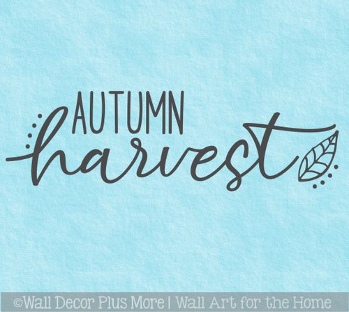 Autumn Harvest Fall Wall Art Decor Sticker Decal Vinyl Lettering Words
