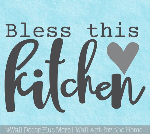 Bless This Kitchen Wall Words Decal Vinyl Lettering Sticker Decor Art
