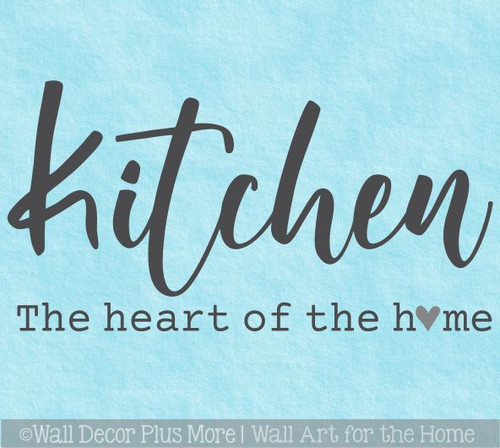 Kitchen Wall Decal Heart of the Home Quotes Decor Art Vinyl Stickers