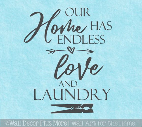 Wall Words Decal Our Home Endless Love Laundry Room Decor Art Sticker