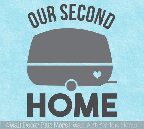 Our Second Home Retro Camper Icon Wall Art Decal RV Travel Decor Sticker