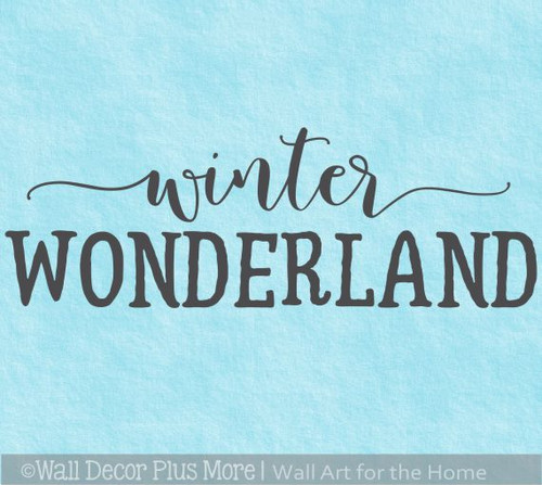 Winter Wonderland Holiday Seasonal Wall Art Decal Sticker Home Decor