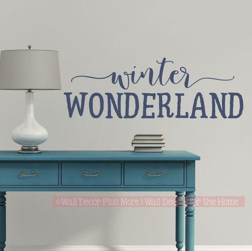 Winter Wonderland Holiday Seasonal Wall Art Decal Sticker Home Decor-Deep Blue