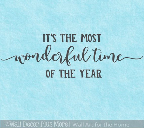 Most Wonderful Time of Year Holiday Wall Decor Sticker Home Decal Words