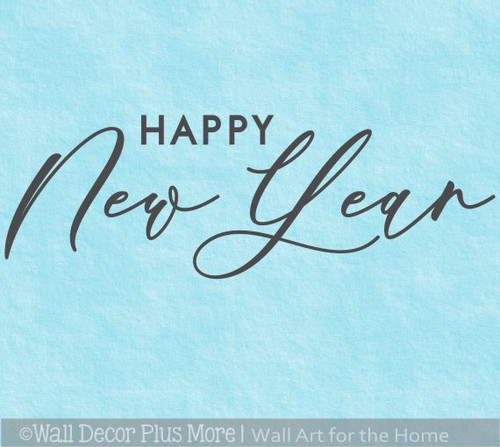 Happy New Year Winter Wall Art Decal Decor Sticker Lettering Words