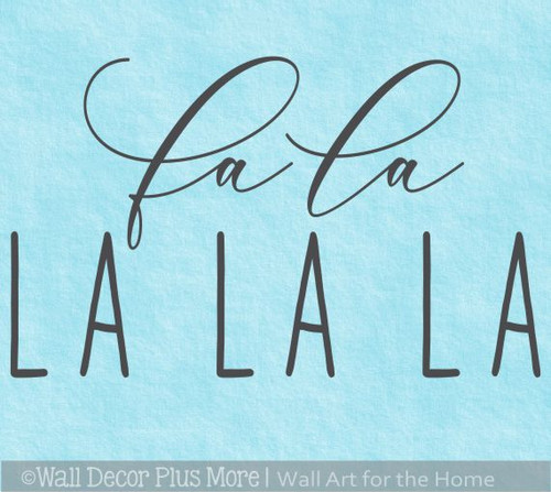 Best Winter Wall Art Decals Fa La La Holiday Song Words Decor Sticker