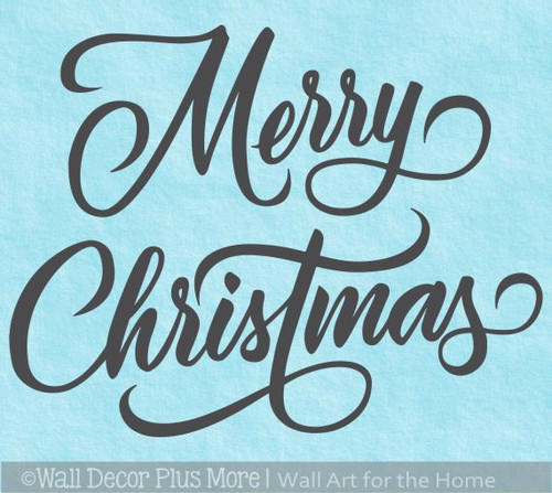 Merry Christmas Elegant Wall Word Letters Decal Sticker Holiday Art