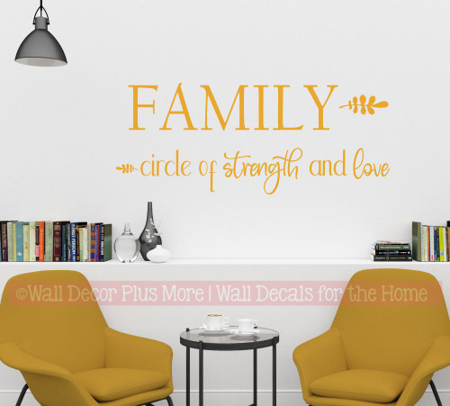 Family Wall Decal Quote Circle of Strength Love Vinyl Art Decor Sticker-Honey