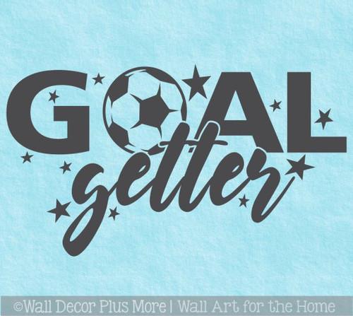 Soccer Wall Decor Sticker Goal Getter Ball Art Decal Kids Sports Decor