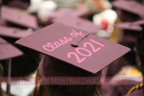 Graduation Hat Decoration Vinyl Decal Sticker for Graduate Mortarboard Class of 2021 Design