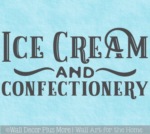 Wall Decal Ice Cream Confectionary Old-Time Lettering Vinyl Sticker Art