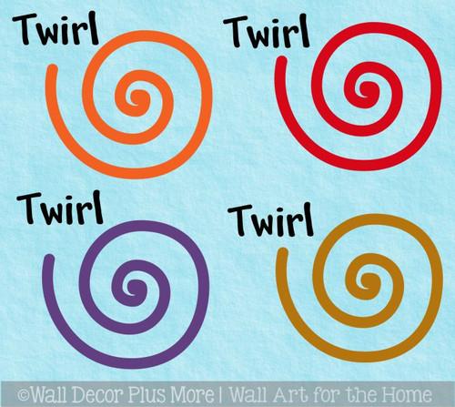Sensory Path Floor Decal Stickers School Hall Activity Swirl Twirl Spin