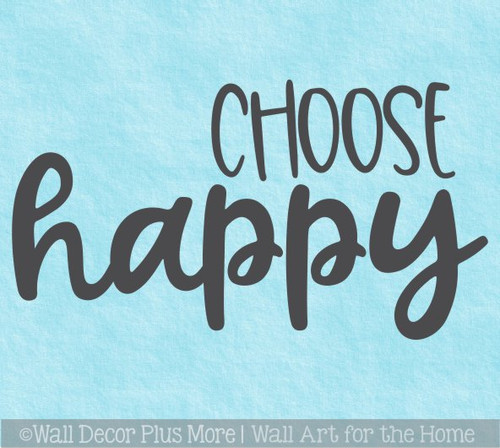 Decal for Circle Wood Sign Choose Happy Inspiring Quote Stencil or Sticker