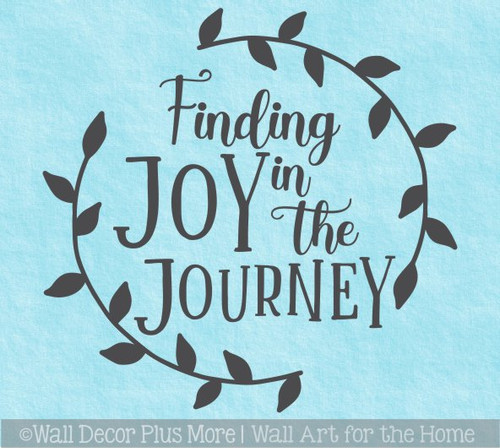Decal for Circle Wood Sign Joy in Journey Decor Quote Stencil or Sticker