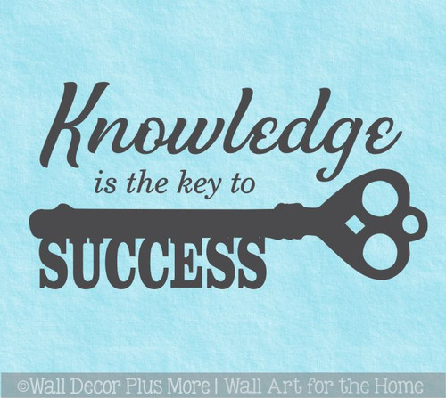 Wall Decals for Schools Knowledge Key to Success Vinyl Lettering Sticker
