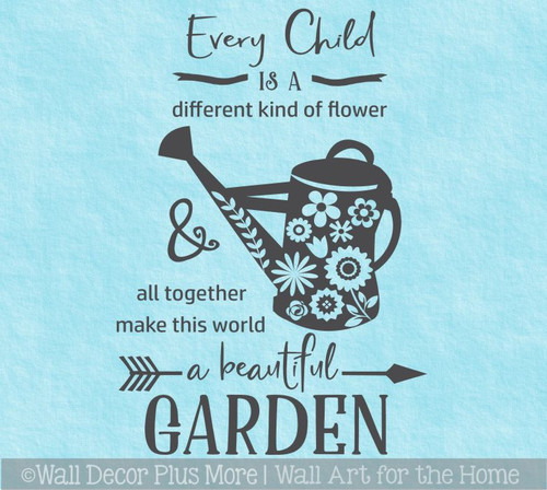 School Decal Wall Stickers Every Child Different Flower Beautiful Garden