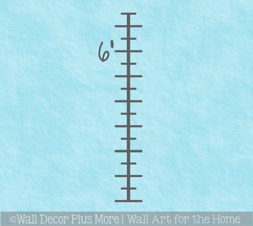 Add-on for Growth Chart Ruler Decals Increase Chart from 5ft to 6ft