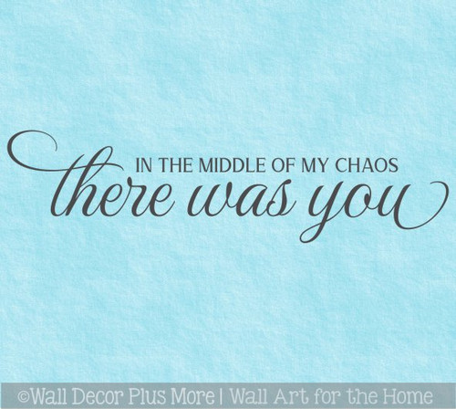 Wall Decal Bedroom Decor There Was You Wall Sticker Art Lettering Quote
