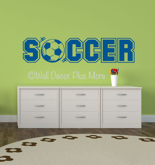 Soccer Sports Wall Decals Stickers for Boys Cool Room Decor