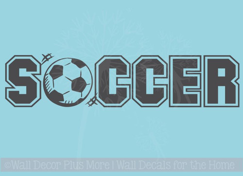 Soccer Ball Sports Wall Art Decal Sticker for Room Decor
