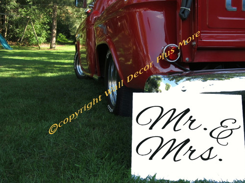 Mr & Mrs Love Quote Wall Decal Banner Sign