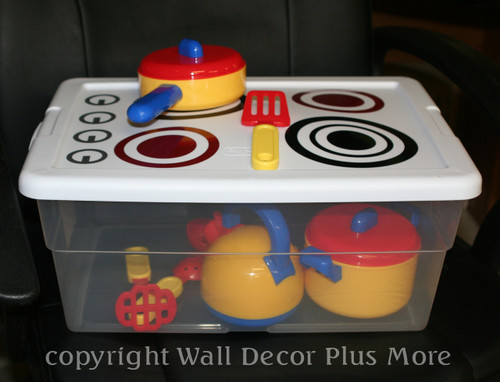 Play stove decal stickers Kids