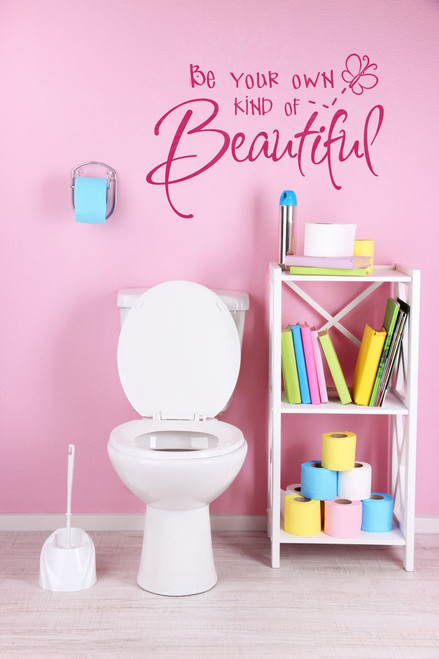 Be Your Own Kind Of Beautiful Girls Inspirational Wall Stickers Vinyl Decals Hot Pink