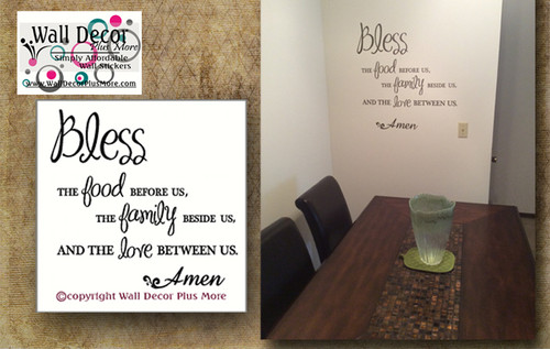 Kitchen Wall Decal Verse Saying Large