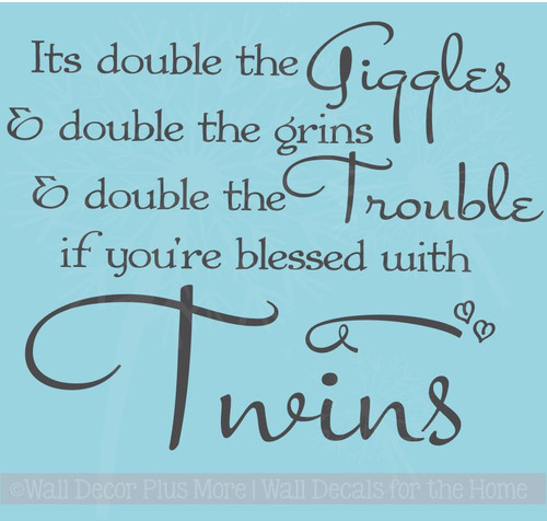 Double the Giggles Double the Grins Twin Wall Sticker Decal