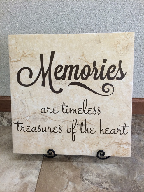 Vinyl Wall Decal Quotes on Tile for Memorial Gift Verse Memories Treasures