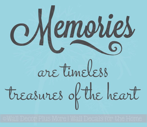 Memories are Timeless Memory or Sympathy Wall Decal Vinyl Stickers to fit a tile
